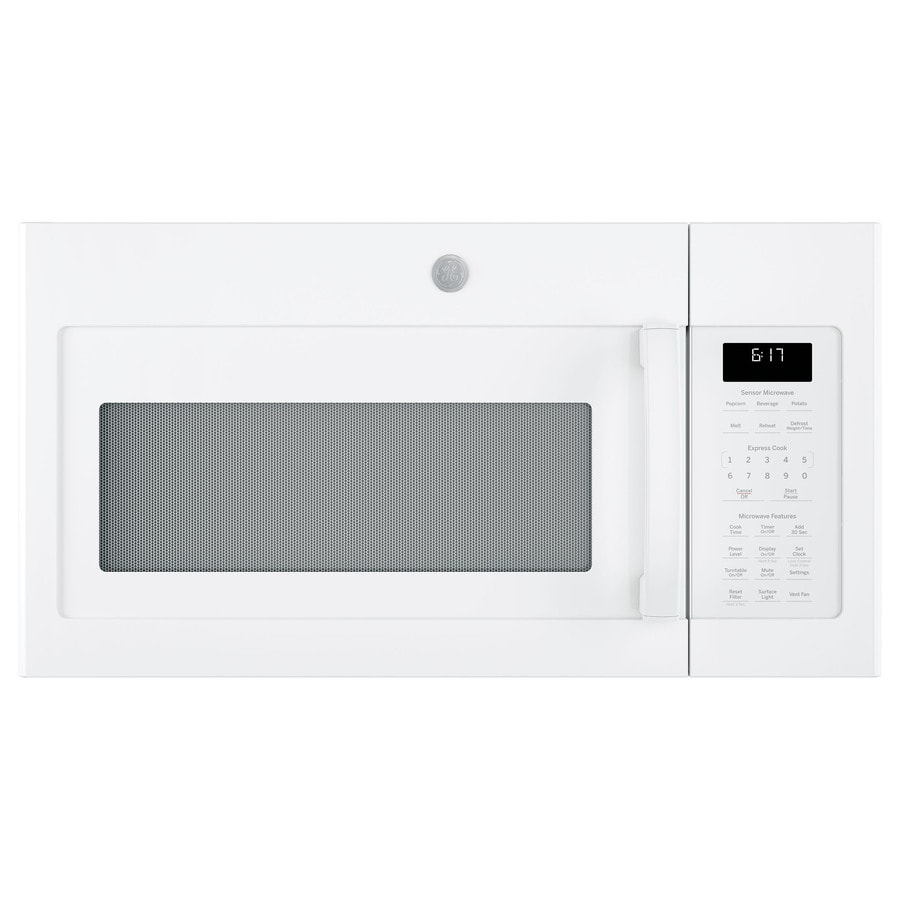 ge 1 7 cu ft over the range microwave with sensor cooking white