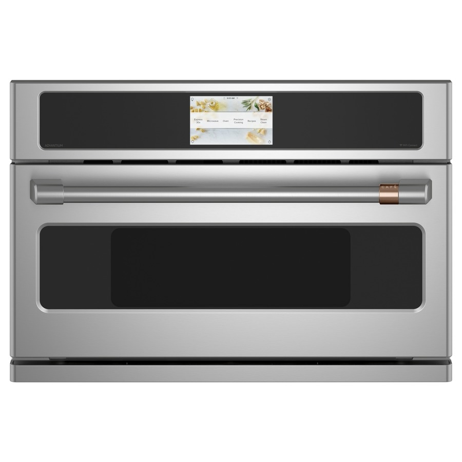 cafe advantium 1 7 cu ft built in microwave with sensor cooking controls and speed cook stainless steel