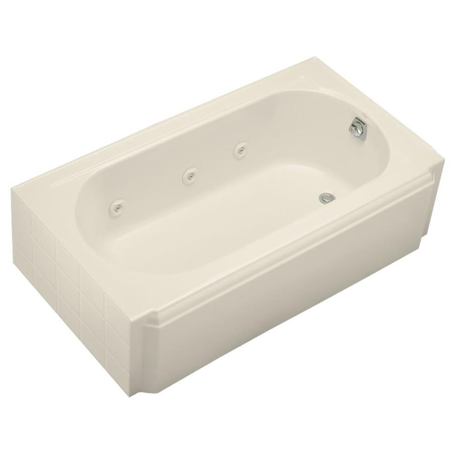 ღ Ƹ̵̡Ӝ̵̨̄Ʒ ღ KOHLER Memoirs 60-in Almond Cast Iron Skirted ...