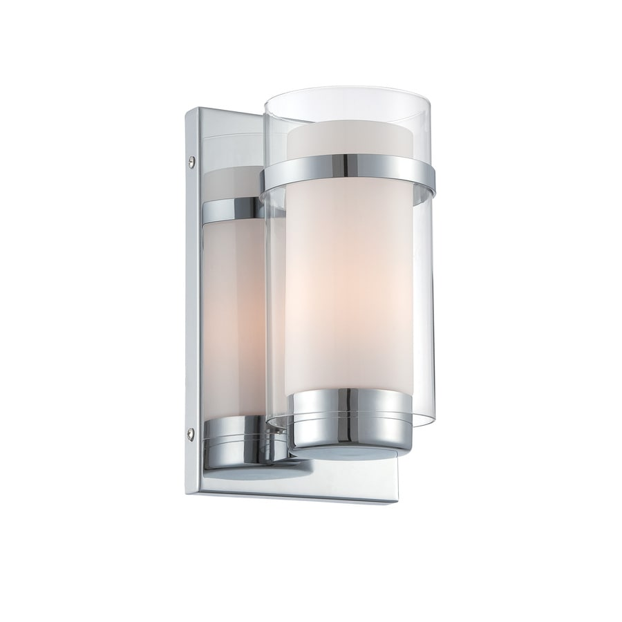 Shop Lite Source Tulio 6-in W 1-Light Chrome Candle Wall ... on Decorative Wall Sconces Candle Holders Chrome id=68243