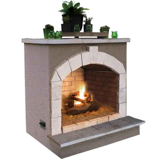 outdoor gas fireplaces at lowes