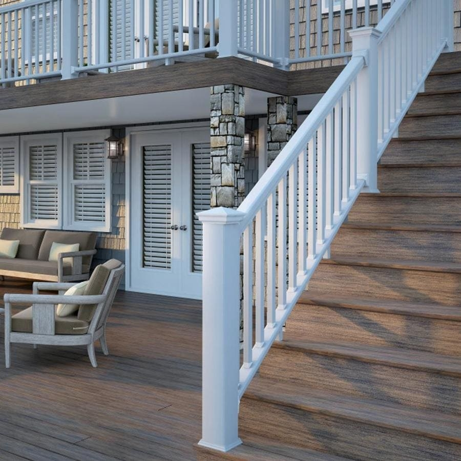 Deck Railing At Lowes Com | White Railing Black Spindles | Porch | Iron Balusters | Wrought Iron | Porch Railing | Trex Deck