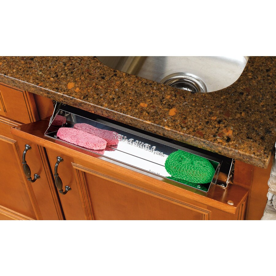 rev a shelf 14 in w x 3 81 in h 1 tier metal tip out tray