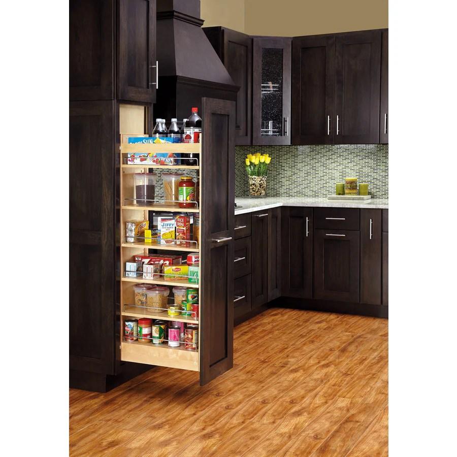 Shop Rev A Shelf 8 In W X 5931 In H Wood 1 Tier Cabinet