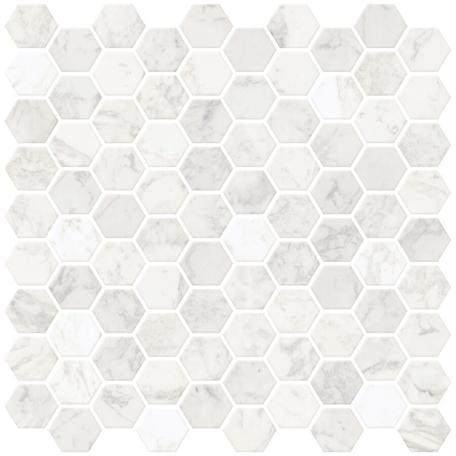 inhome hexagon marble peel and stick