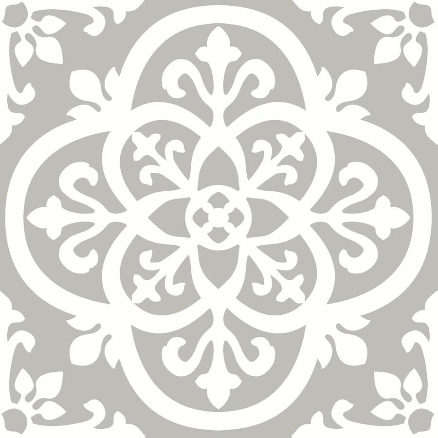 floorpops grey 12 in x 12 in water resistant peel and stick vinyl tile 20 sq ft