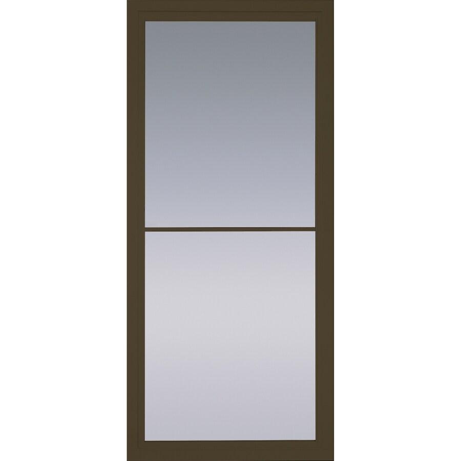 Pella Rolscreen Brown Full View Aluminum Storm Door