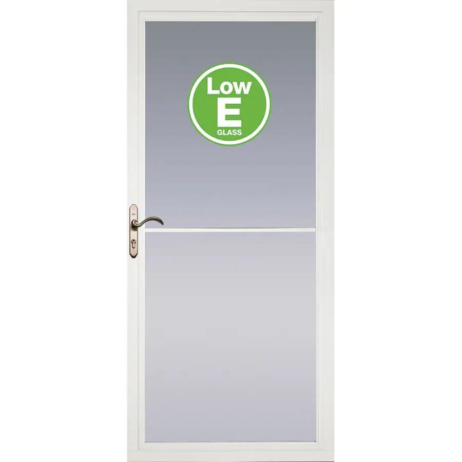 Pella Rolscreen White Full View Aluminum Storm Door