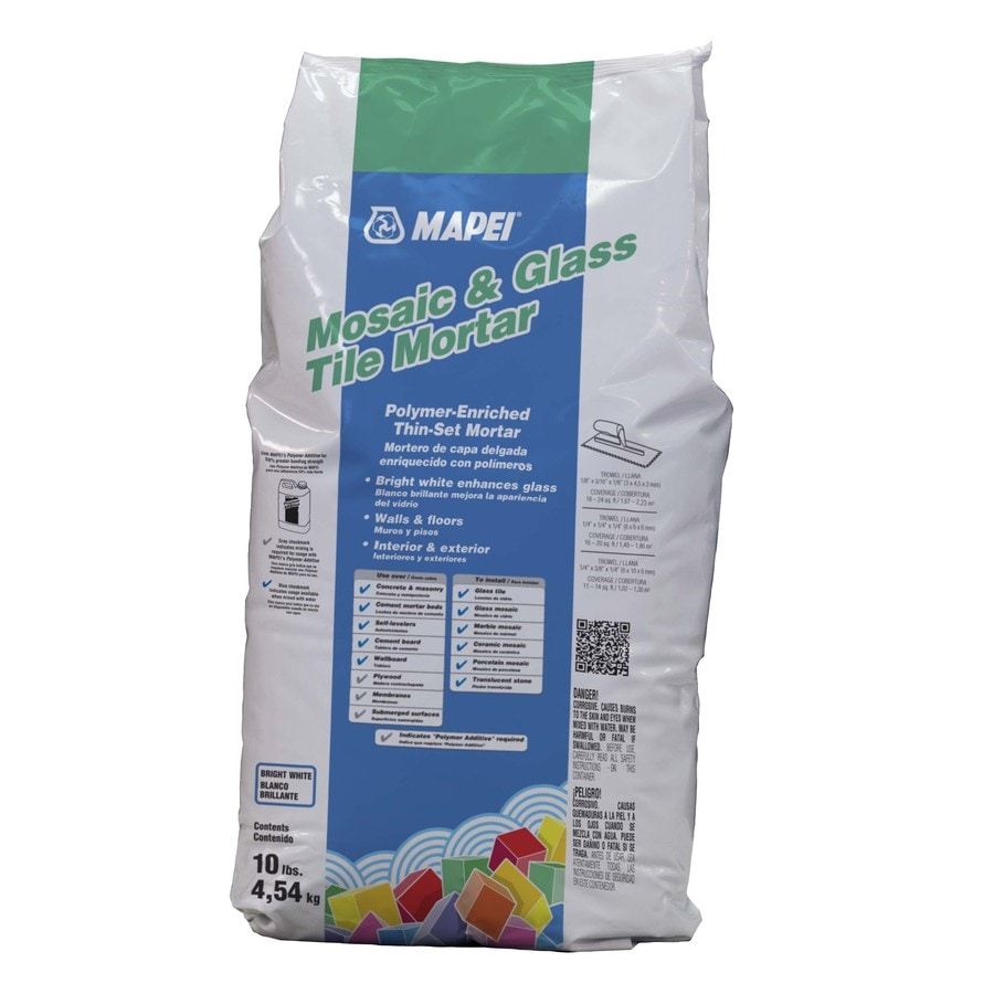 mapei mosaic and glass tile 10 lb white thinset mortar tile mortar lowes com