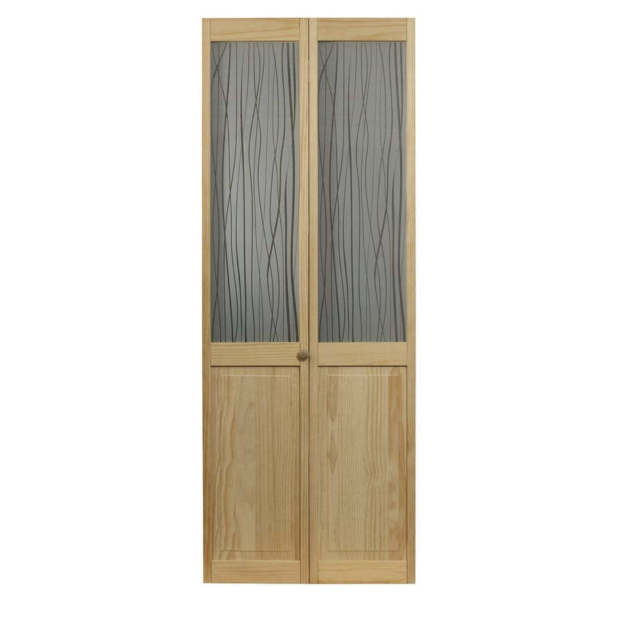 pinecroft grass 30 in x 80 in unfinished pine wood 2 panel on Pinecroft 30 In X 80 In Optique Clear Lite id=83526
