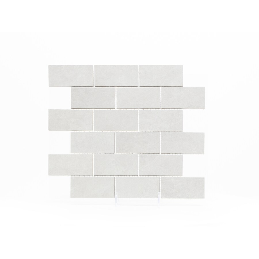 gbi tile stone inc dove grey dove grey matte 12 in x 12 in matte porcelain brick floor and wall tile