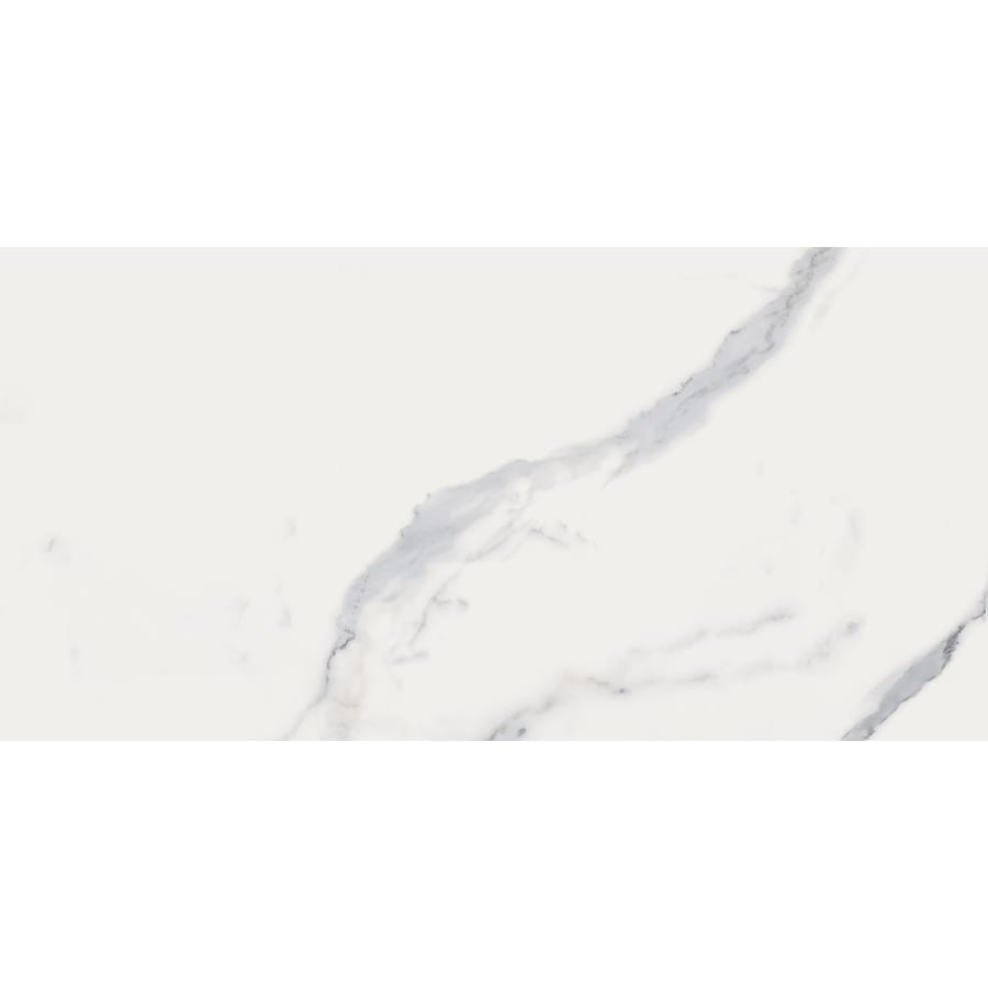 style selections calacatta white 12 in x 24 in matte porcelain marble look floor tile