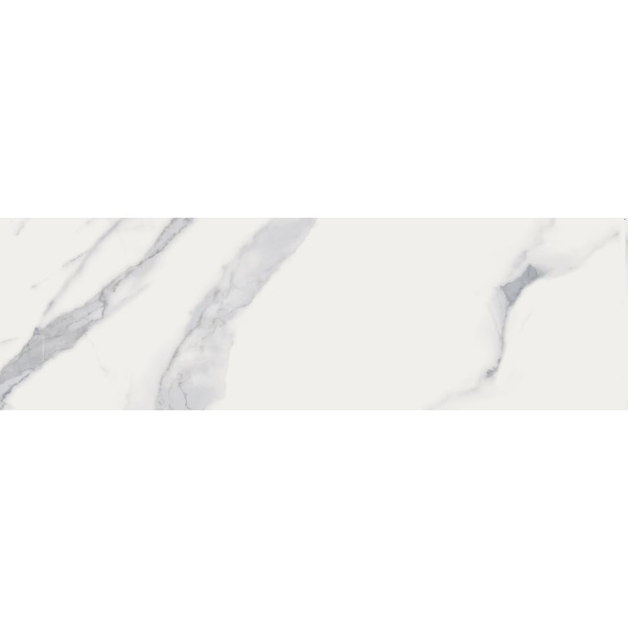 style selections calacatta white bullnose 3 in x 12 in matte porcelain marble look floor tile