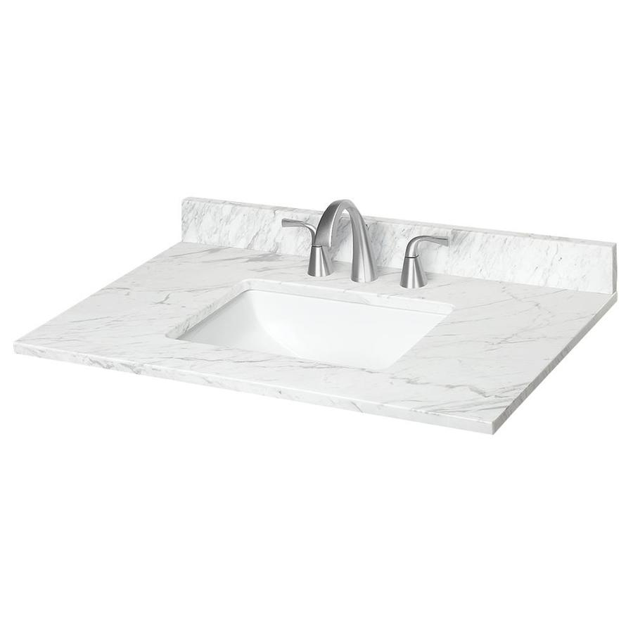 37 in ariston natural marble single sink bathroom vanity top lowes com