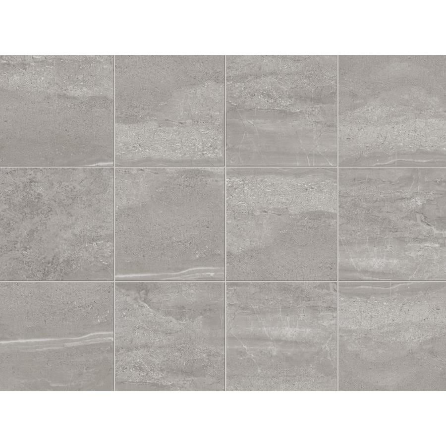 style selections skyros gray 12 in x 12 in glazed porcelain stone look floor and wall tile