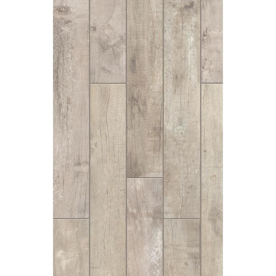 style selections sahalee natural 8 in x 48 in glazed porcelain wood look floor and wall tile