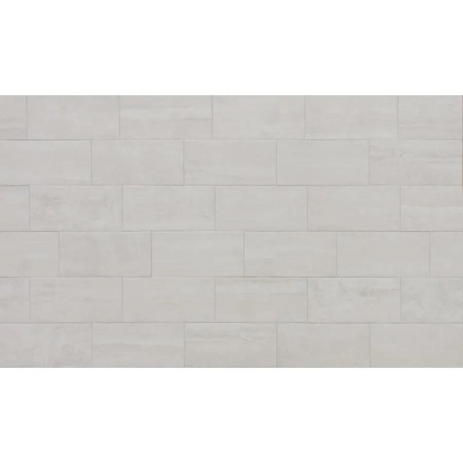true porcelain co endless ivory 6 in x 12 in matte porcelain stone look floor tile lowes com
