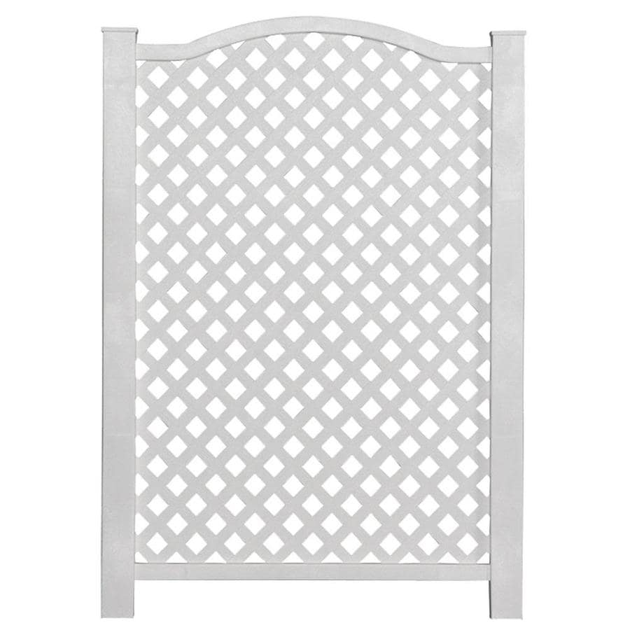 freedom grab go 31 97 in w x 45 4 in h white vinyl polyresin outdoor privacy screen lowes com