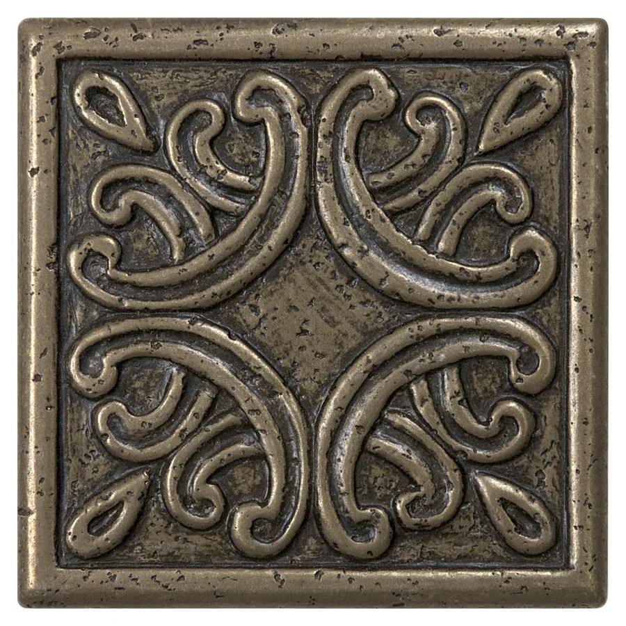 anatolia tile roman design bronze metal border tile common 4 in x 4 in actual 3 93 in x 3 93 in