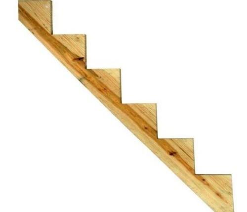 Severe Weather 6 Step Pressure Treated Pine Deck Stair Stringer In | 8 Step Wood Stair Stringer | Cedar Tone | Menards | Deck | Framing Square | Precut Prebuilt