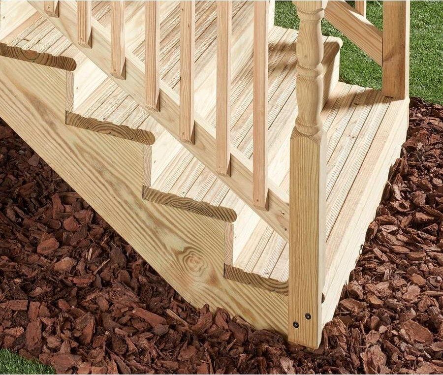 Severe Weather 2 In X 12 In X 36 In Unfinished Pressure Treated | Outdoor Wood Stair Treads | Riser | Heavy Timber | Wood Beam | External | Step