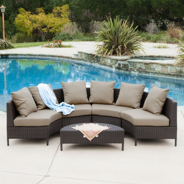 outdoor wicker furniture 5 piece patio set Shop Best Selling Home Decor Newton 5-Piece Wicker Patio