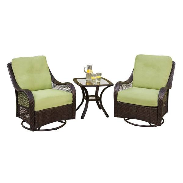 3 piece wicker patio furniture set Shop Hanover Outdoor Furniture Orleans 3-Piece Wicker
