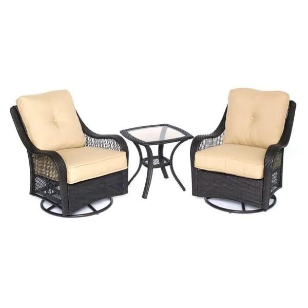3 piece wicker patio furniture set Shop Hanover Outdoor Furniture Orleans 3-Piece Wicker