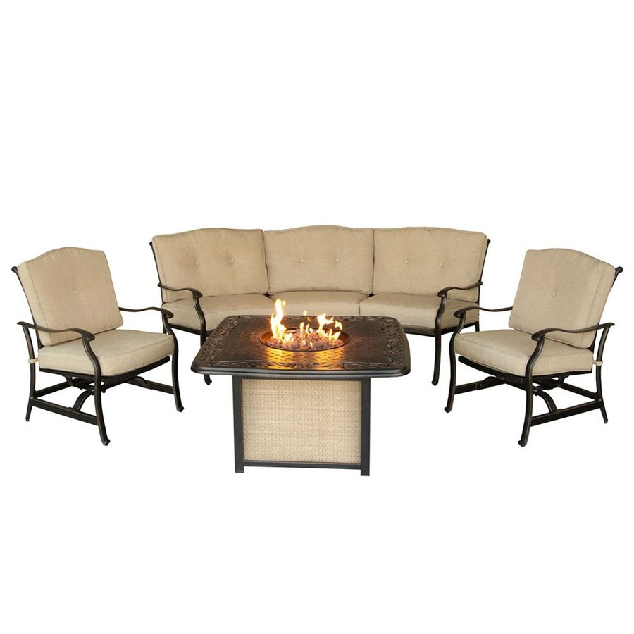 Hanover Outdoor Furniture Traditions 4 Piece Aluminum - Hanover Outdoor Furniture