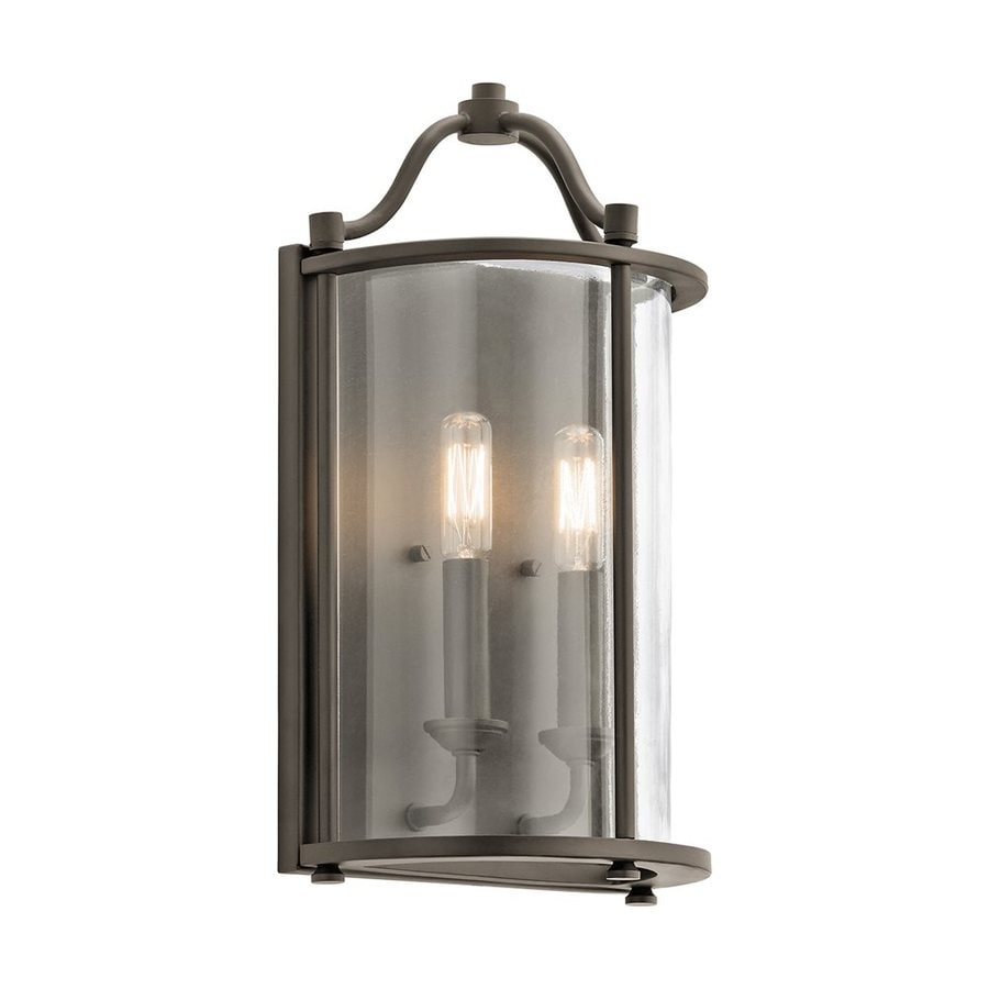 Shop Kichler Emory 8.5-in W 2-Light Olde Bronze Candle ... on Kichler Olde Bronze Wall Sconce id=57508