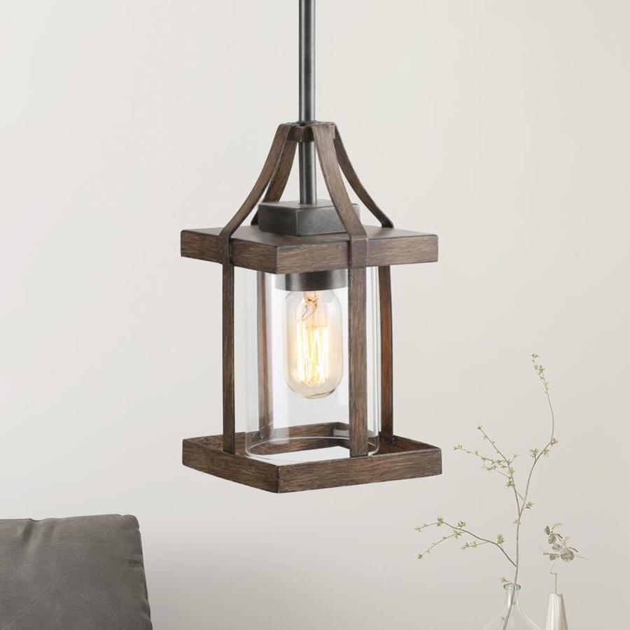 lnc lapps antique brown farmhouse clear glass geometric mini kitchen island light