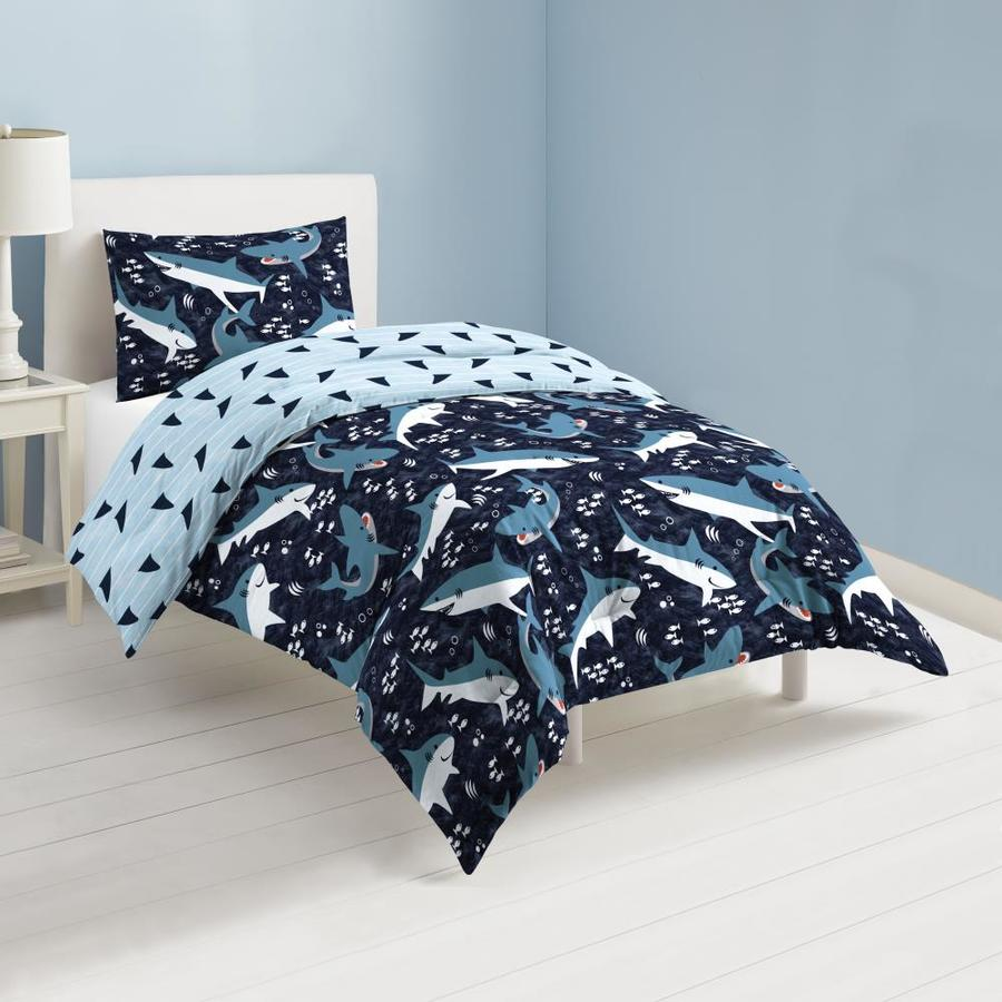 dream factory sail away 2 piece navy twin comforter set in the bedding sets department at lowes com