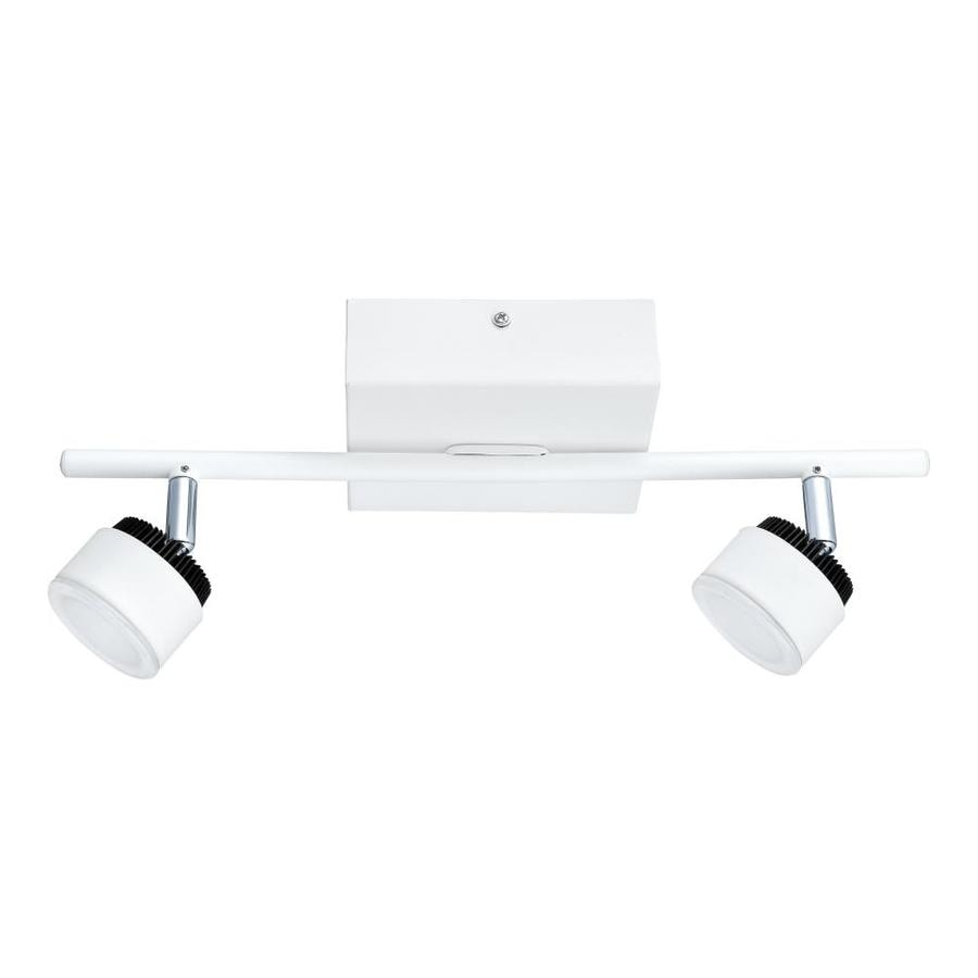 eglo armento 2 light 15 35 in white dimmable led track bar fixed track light kit