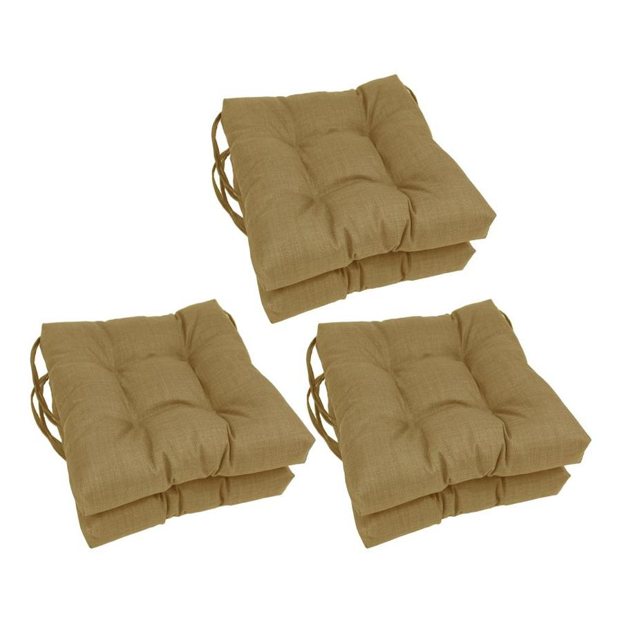 blazing needles 6 piece wheat patio chair cushion