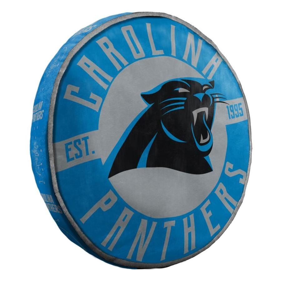 the northwest company carolina panthers nfl 148 cloud pillow 15 in x 15 in multi 94 polyester and 6 spandex round indoor decorative pillow