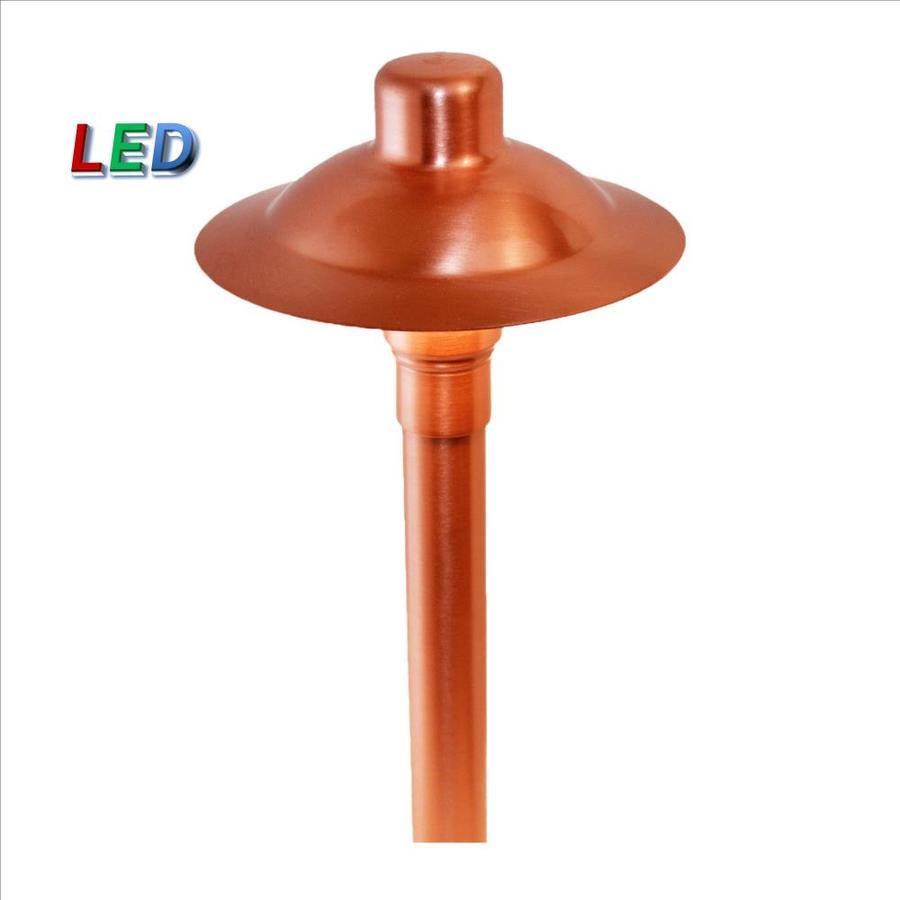 p m lighting 20x brighter 24 lumen 3 watt copper satin low voltage hardwired led path light