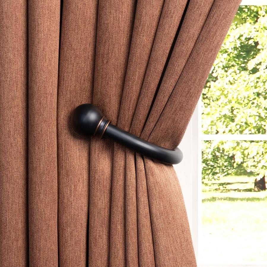 oil rubbed bronze curtain holdbacks