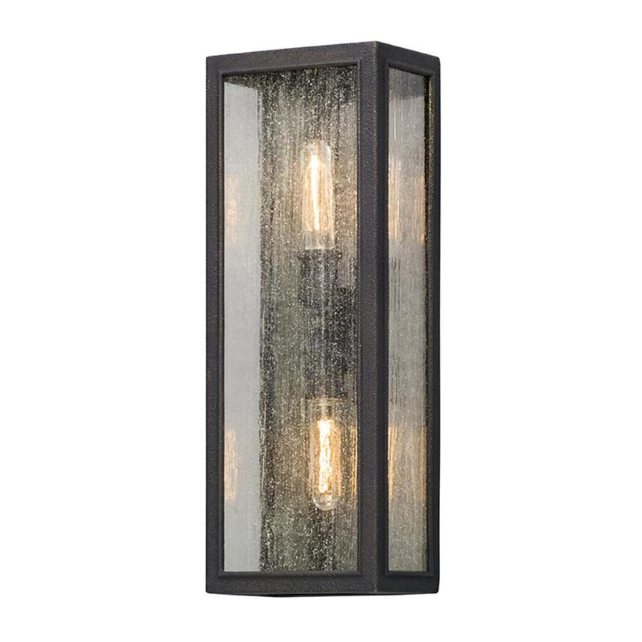 troy lighting dixon 8 in w 2 light vintage bronze vintage wall sconce