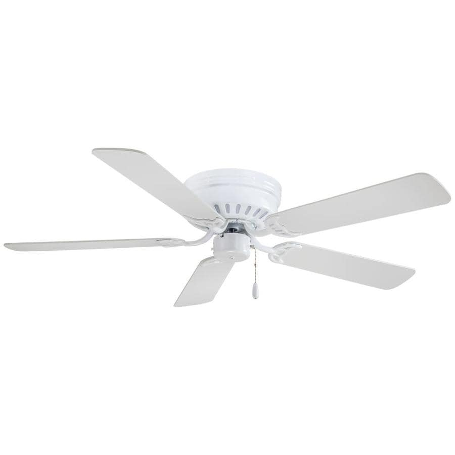 minka aire mesa 52 in white indoor flush mount ceiling fan 5 blade lowes com