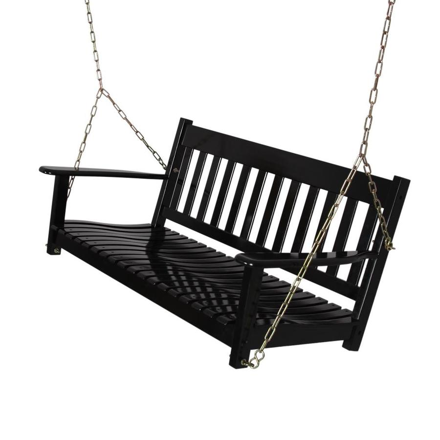 cambridge casual thames 2 person black wood outdoor swing