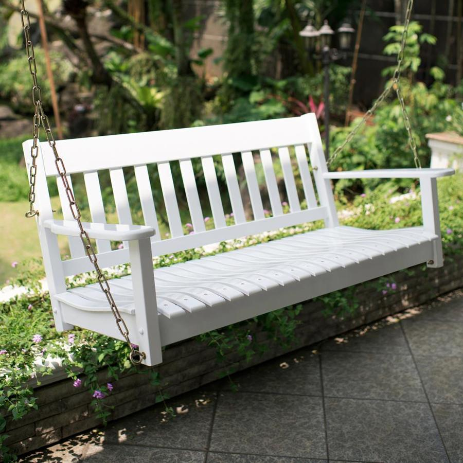 cambridge casual thames 2 person white wood outdoor swing