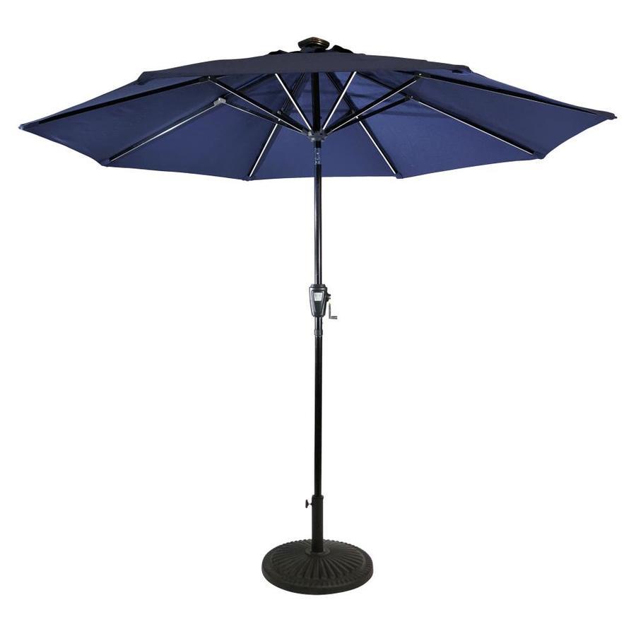 sun ray 106 3 ft navy blue solar powered push button tilt market patio umbrella