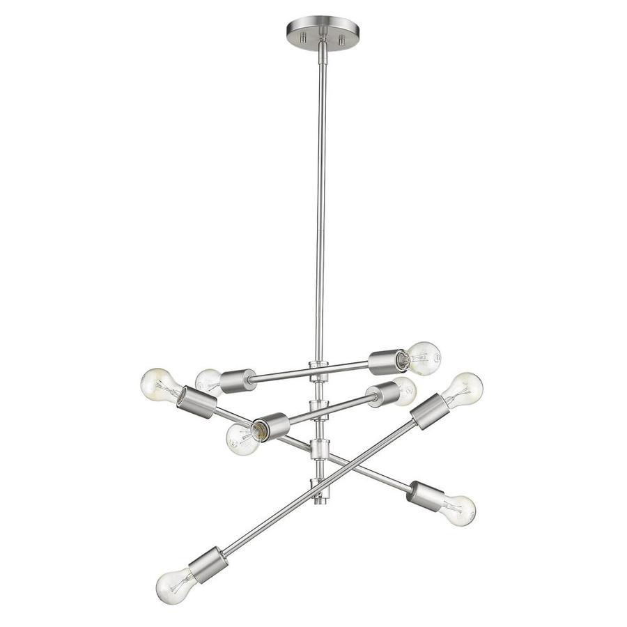 acclaim lighting calix satin nickel industrial sputnik pendant light
