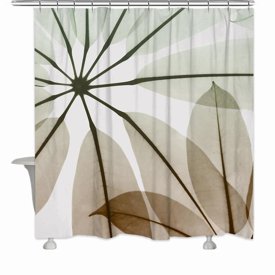 laural home 72 in polyester multi color polyester pictorial shower curtain