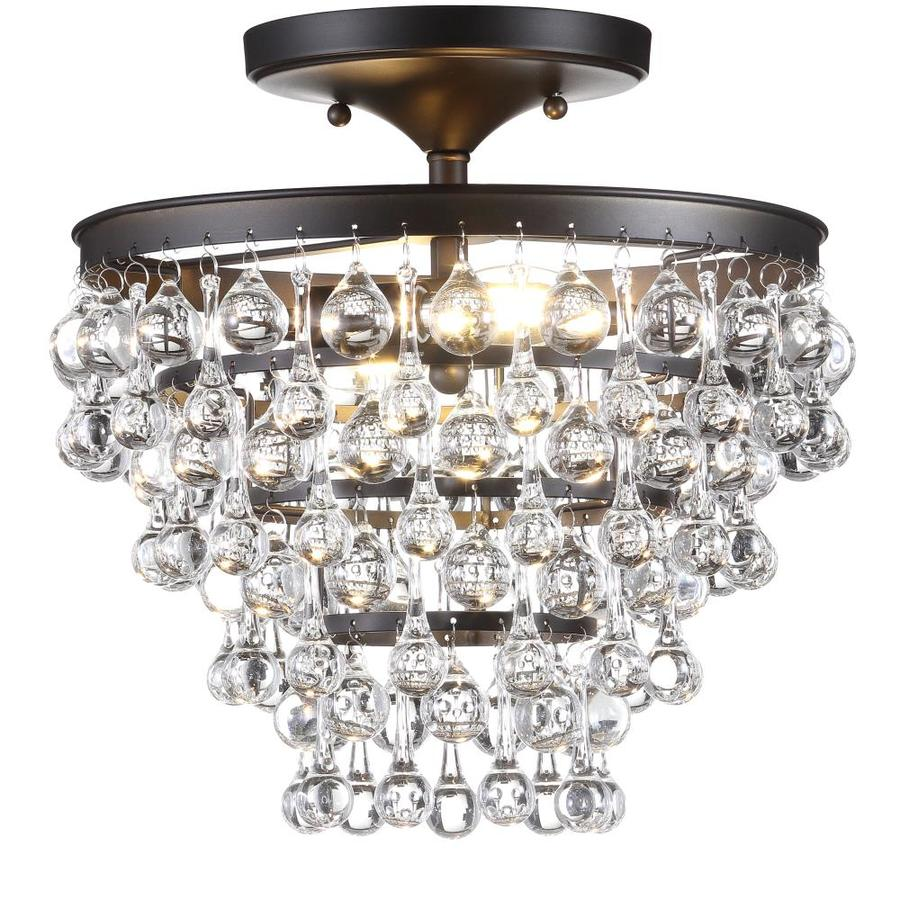 jonathan y transitional 13 in oil rubbed bronze modern contemporary led semi flush mount light