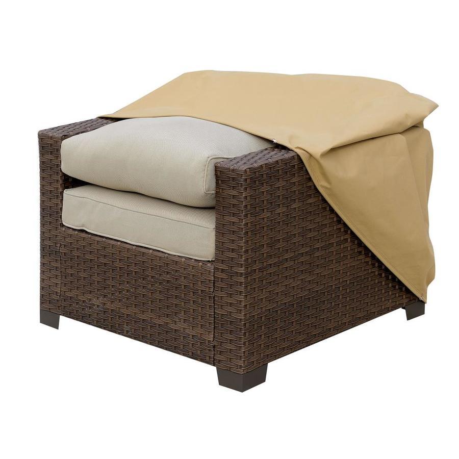 benzara brown polyester patio furniture cover