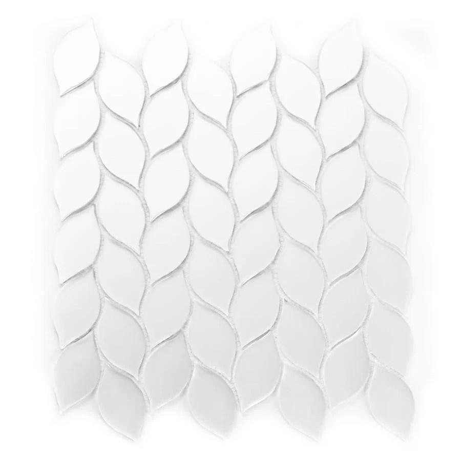 matte glass mosaic wall tile sample