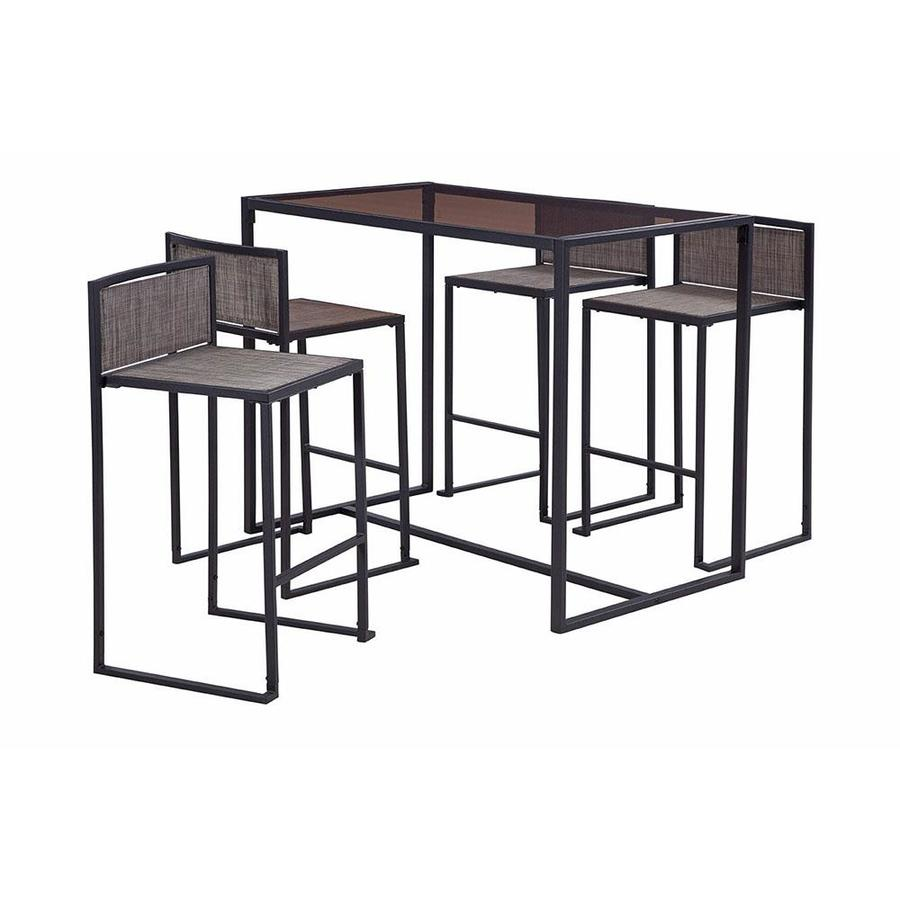 https www lowes com pd liberty garden drake 5 piece black frame bar height patio set with taupe bar height 1002625134