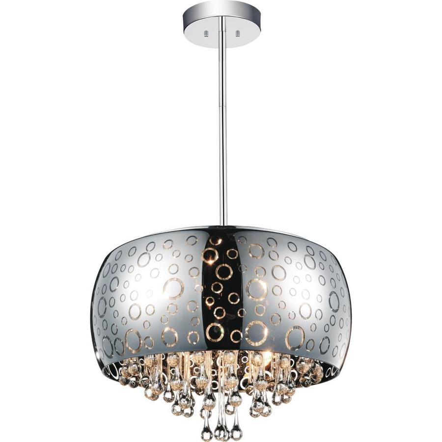 cwi lighting movement 6 light chrome modern contemporary chandelier in the chandeliers department at lowes com