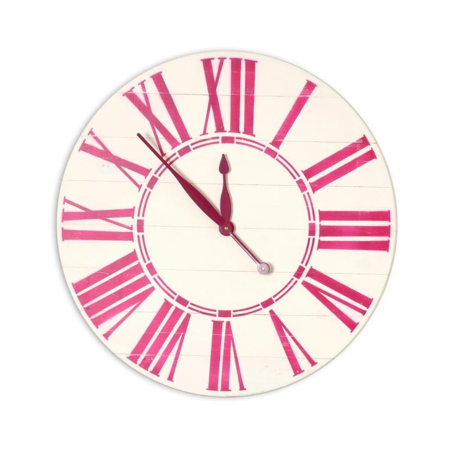 Brandtworks Bold Sangria Oversized Wall Clock In The Clocks Department At Lowes Com